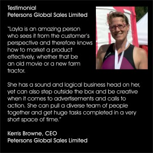 Layla Robinson - Petersons Global Sales Limited