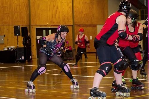 Roller Derby Skater - Panel Beat Her #1997