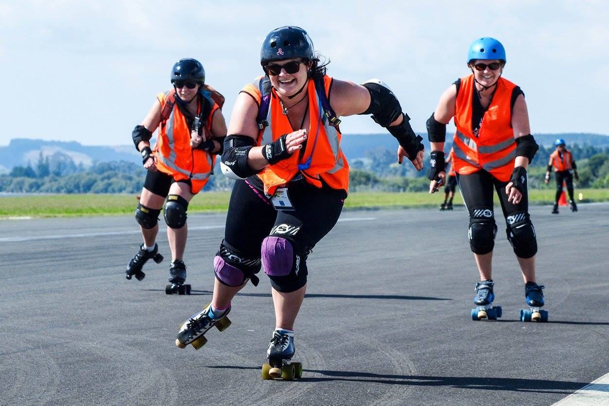 Rotorua's Roller Derby League partaking in Ride the Runway