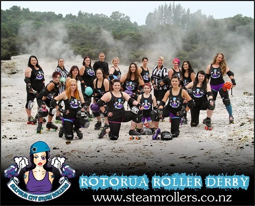 Rotorua's Roller Derby League, the Sulphur City Steam Rollers