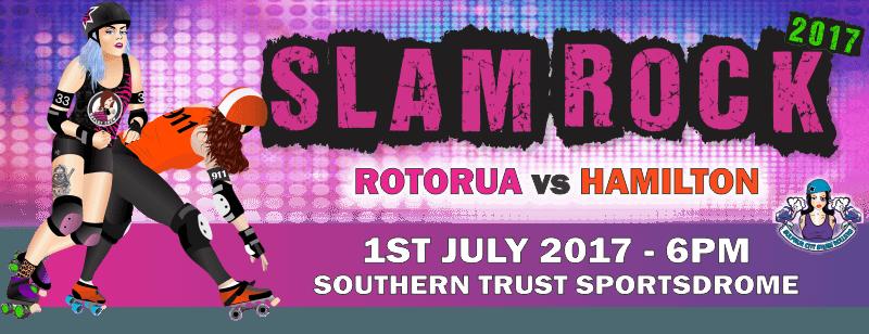 Slam Rock 2017 - Roller Derby in Rotorua